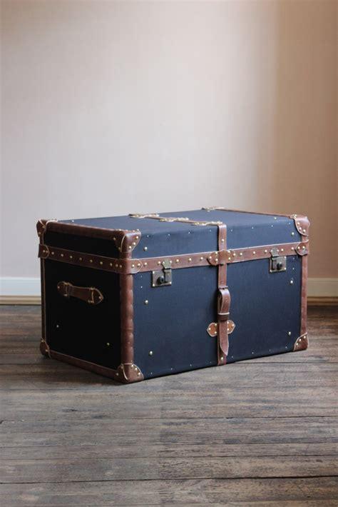 Luggage Trunk Coffee Table Bespoke Black Millerain And Leather Trunk Coffee Table Leather Trunks Luggage