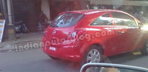opel india remember opel corsa latest gen caught testing in bangalore