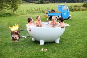 Outdoor Bathtub Wood Fired by Mobile And Wood Burning Tub Digsdigs