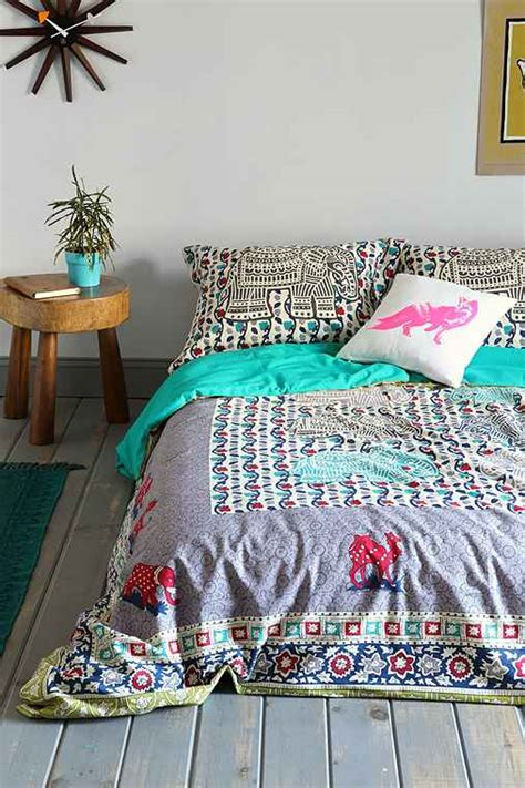 magical thinking elephant stamp duvet cover urban outfitters