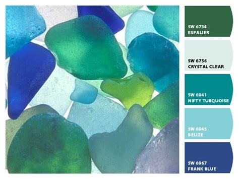 sea glass inspired paint palette paint palettes
