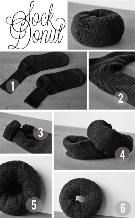 diy sock for bun the fuzzy corner rise of the sock bun