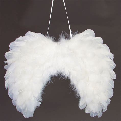 fluffy feather christmas tree decoration angel wings white feather wings fluffy hanging tree decorations ebay