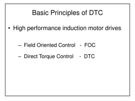 basic principle of induction motor ppt direct torque of induction machine powerpoint presentation id 896934