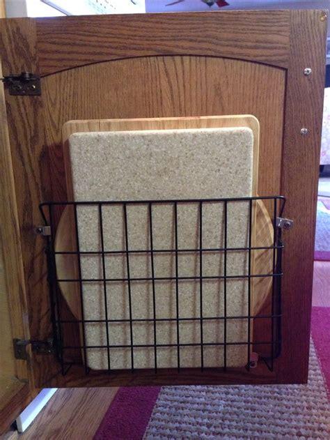 inside door storage 17 best ideas about cutting board storage on pinterest