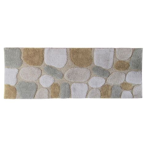 bath runner rugs chesapeake merchandising 24 in x 60 in pebbles bath rug runner in spa 45091 the home depot