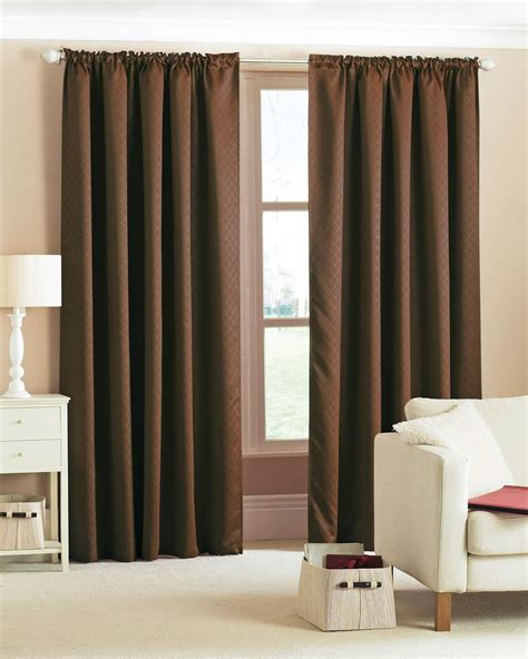 chocolate drapes diamond woven blackout pencil pleat ready made curtains