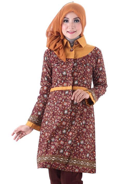 Dress Batik Rok Kiri Belah Dalaman ingin tetap terlihat islami dan stylish tanpa meninggalkan kebudayaan indonesia 8 trend fashion