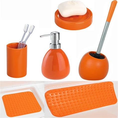 8 Great Orange Accessories by Orange Coloured Bathroom Accessories House Decor Ideas