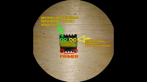 Multitester Bekas cara mudah bagi pemula menentukan kaki trafo bekas cas hp