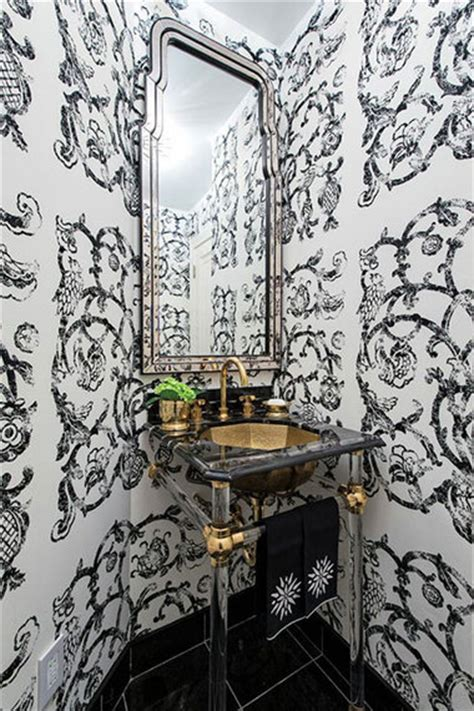 lindsey coral harper 6 reasons to use wallpaper in a small bathroom huffpost