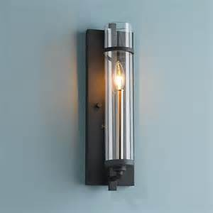 Modern Bathroom Wall Sconce - clearly modern glass tube wall sconce