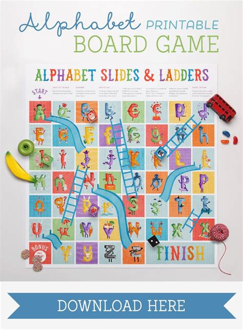 printable board games for kindergarten the amazing alphabet printables storybook printable