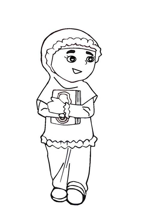 Musim Anak 10 gambar mewarnai anak muslim untuk anak paud dan tk
