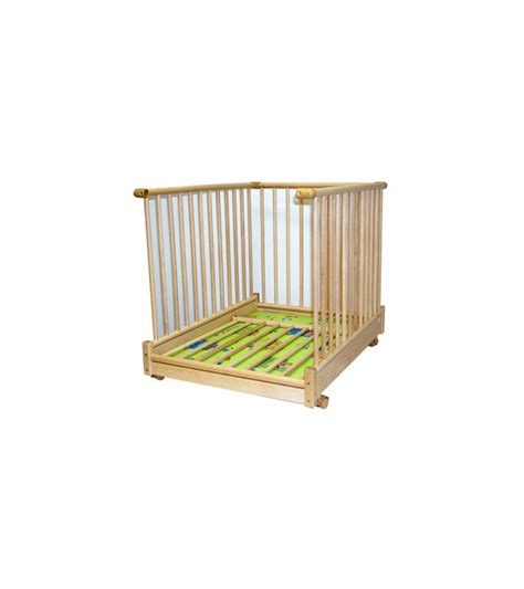 kettler 4 sided foldable wooden playpen with beige deck