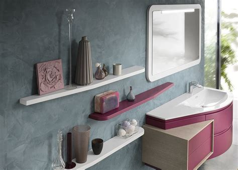 bathroom countertop shelves fuchsia vanity with white countertop and matching floating