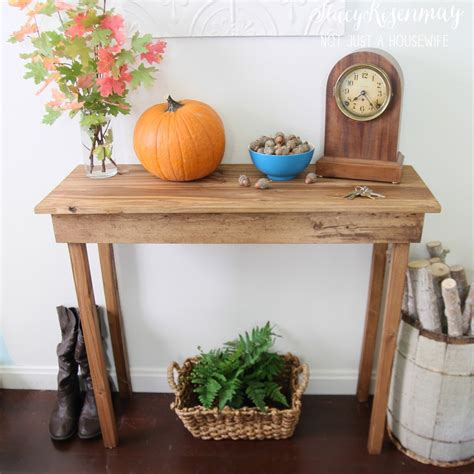 build  simple entryway table    housewife