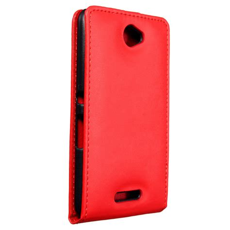 Smile Flip Cover Sony Experia E4 Pink magnetic flip pu leather cover for sony xperia e4