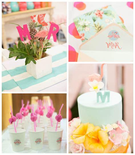 Kara S Ideas Hawaiian Luau Kara S Ideas Tropical Flamingo Themed Birthday