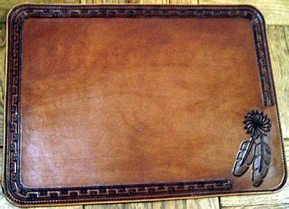 Home Design Board Leather Place Mats Western Decor Custom Leather
