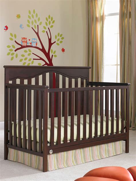 Fisher Price Baby Furniture by Ayden Collection Convertible Crib Cherry Modern Fisher