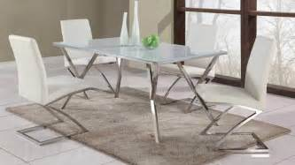 Glass Dining Table And Chair Sets High End Rectangular Glass Top Leather Dining Table And Chair Sets Sunnyvale California Chjad