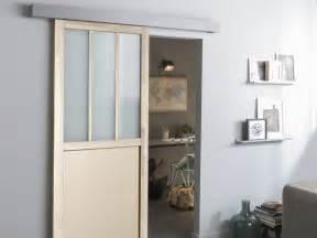 porte coulissante cuisine salon poser une porte