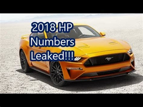 mustang 2018 horsepower 2018 mustang hp numbers and exhaust clip