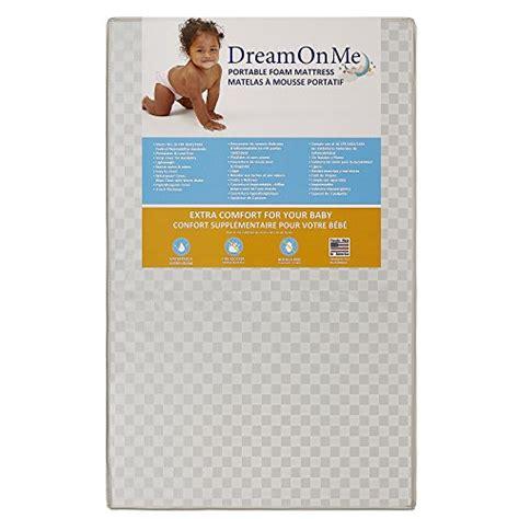 Porta Crib Mattress Size On Me 3 Portable Non Size Crib Mattress White Vinyl Babiesme Babiesme