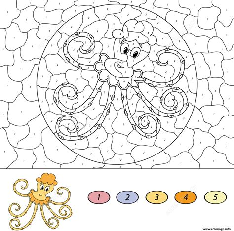 Coloriage Cartoon Octopus Magique Dessin