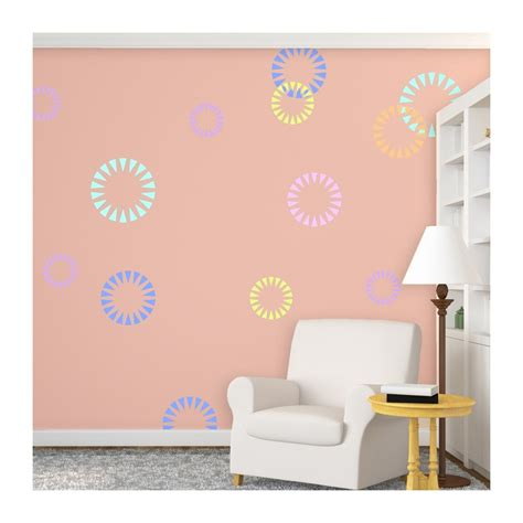 wall painting templates wall stencils circle shape firecracker stencil for modern