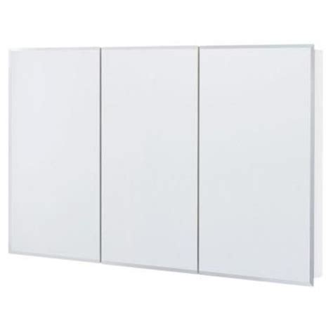 frameless mirrored medicine cabinet glacier bay 48 in x 30 in frameless surface mount