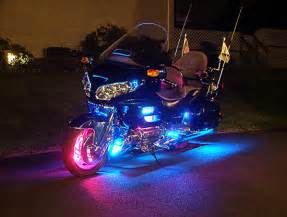 motorcycle at an illuminated subject