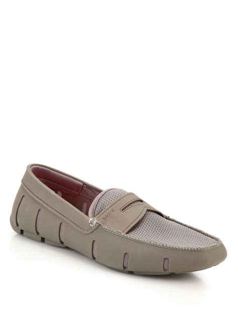 swims rubber loafers swims rubber mesh loafers in for lyst