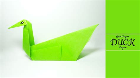 How To Fold A Paper Duck - how to make a paper duck easy origami swan tutorial how to