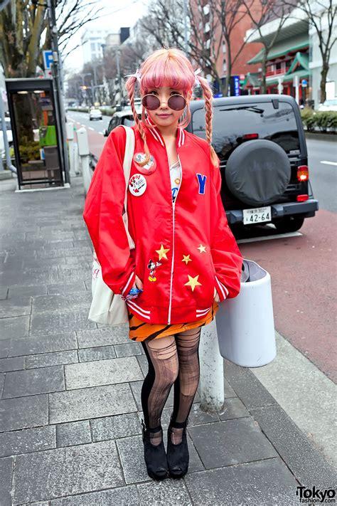 Harajuku Jaket G pink braids disney jacket torn in harajuku