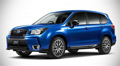 up subaru subaru forester gets souped up by sti but alas it is