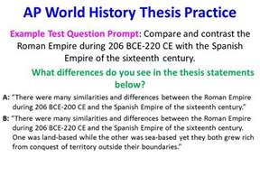 Ap World History Comparative Essay Exle by Aim How Can I Write Ap World History Essays Ppt