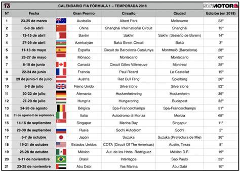 Calendario G P Formula 1 F 243 Rmula 1 2018 Hilo De Pretemporada Vol I Forocoches