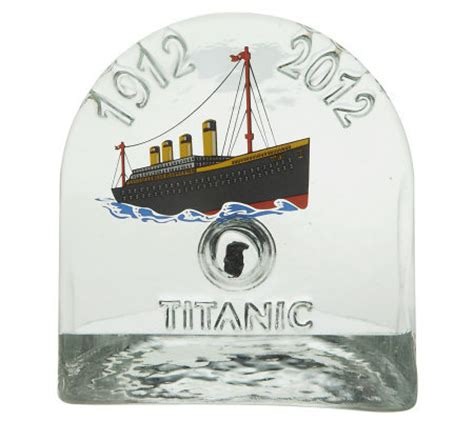 Handmade Paper Weight - titanic handmade glass paper weight with authentic titanic