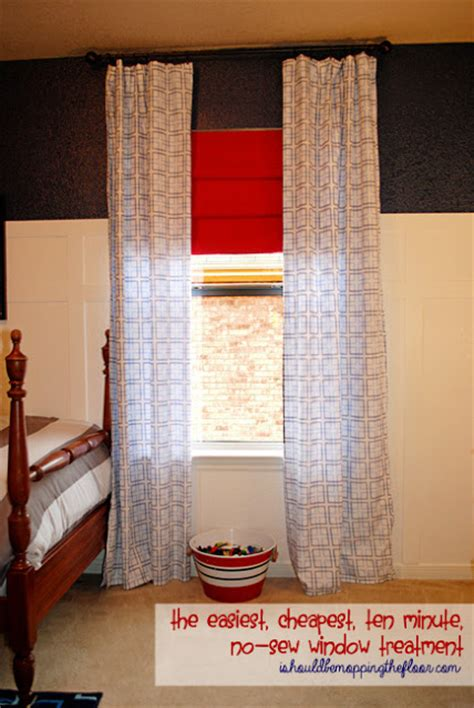 sew window treatments i should be mopping the floor the easiest cheapest no