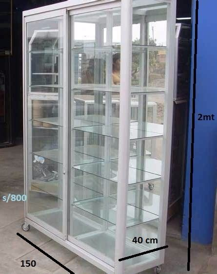 vitrinas de vidrio  aluminio medidas estandar  se