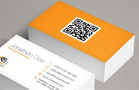 entrepreneur business cards templates qr code business card template medialoot