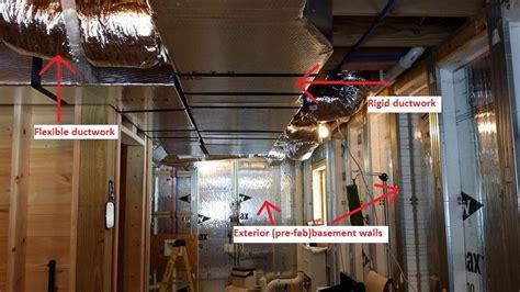basement hvac ducting hvac options log home construction