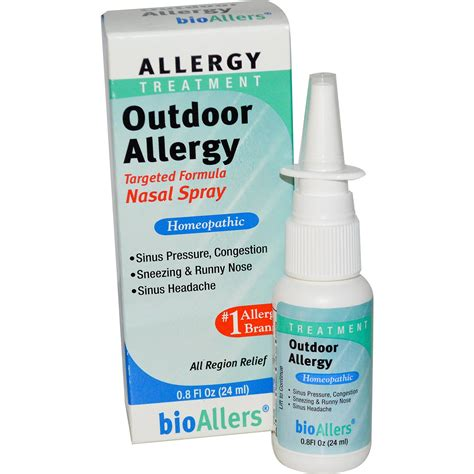 allergies treatment natrabio bioallers allergy treatment outdoor allergy nasal spray 0 8 fl oz 24 ml