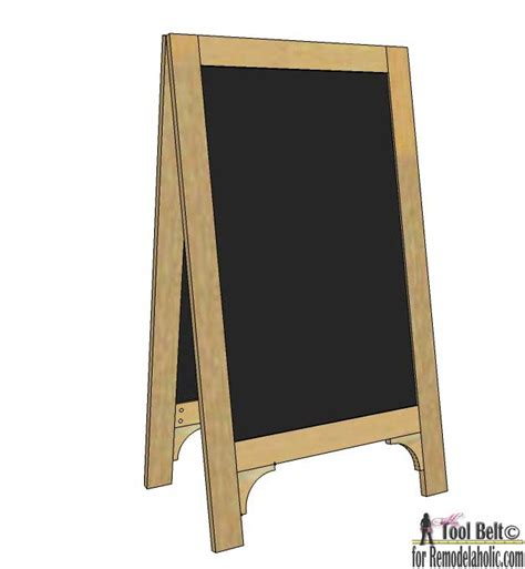 chalkboard paint easel remodelaholic diy chalkboard easel