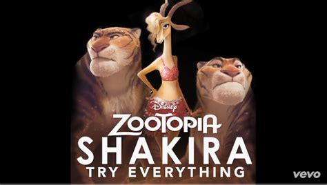 zootropolis film up shakira try everything traduzione testo video