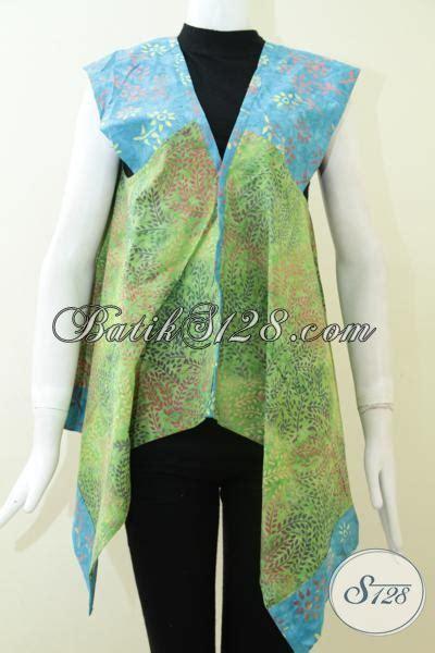 Mini Dress Batik Tulis Biru bolero cantik paduan warna biru dan hijau blr1390cs m