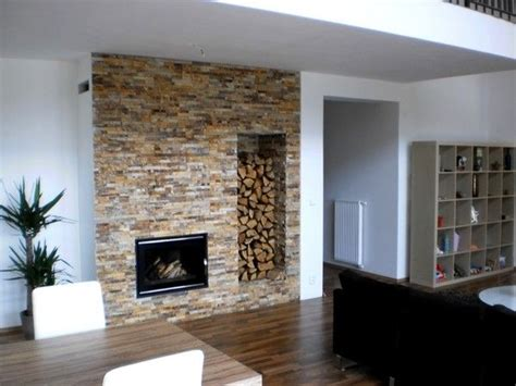 fireplace with firewood storage for the home