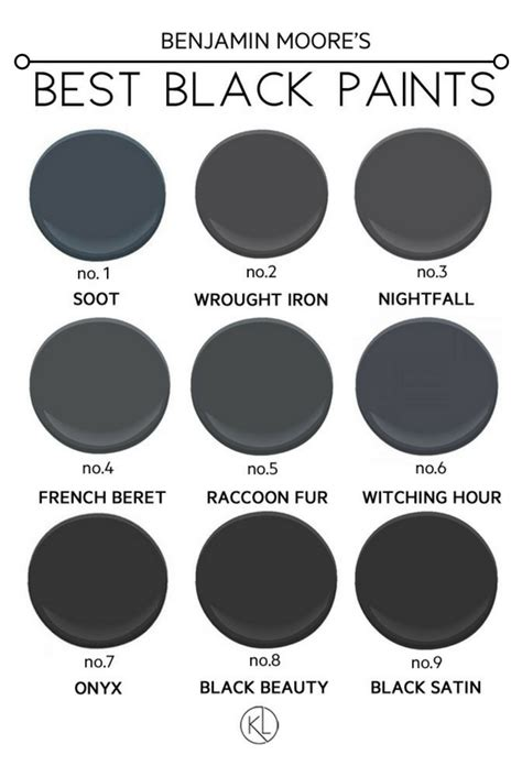 black paint swatch the best black paint colours for any room benjamin and black